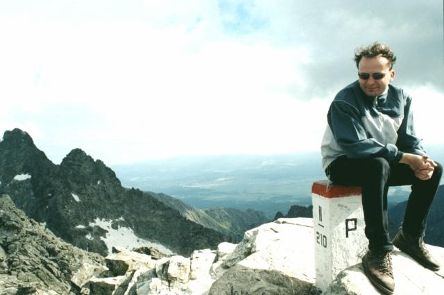 Já na vrcholu Rysy (2499,6 m.n.m.)