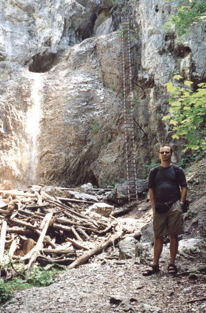 Já, v pozadí Obrovský vodopád