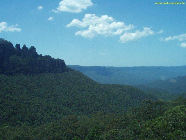 Pohoří Blue Mountains fotografované z lanovky