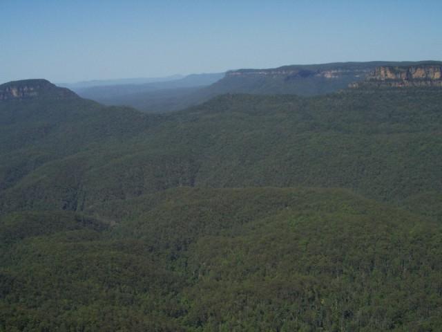 Pohled na pohoří Blue Mountains