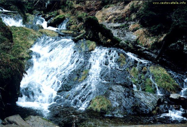 Vodopád Bílé Opavy v Jeseníkách