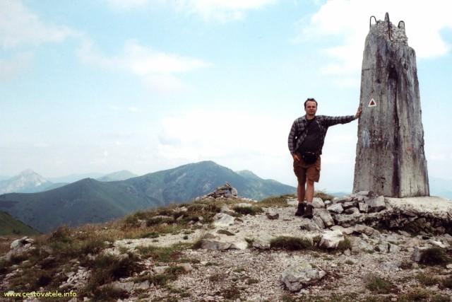 Já (Radim Dostál) na vrcholu Malý Kriváň (1670,9 m. n. m.) v pohoří Malá Fatra.