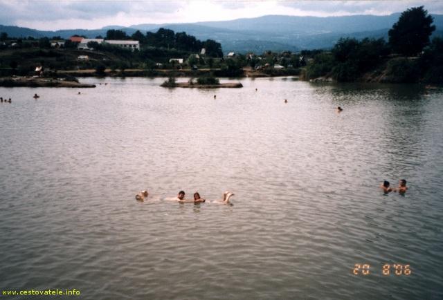 Solné jezero v Solotvíně
