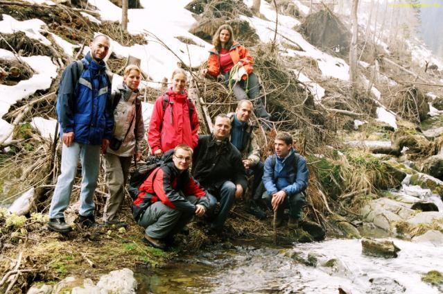 Společná fotka na výletu kolem vodopádů Bílé Opavy