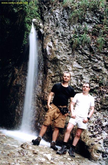 Já (Radim Dostál) a Jarda u Skalního vodopádu ve Slovenském Ráji