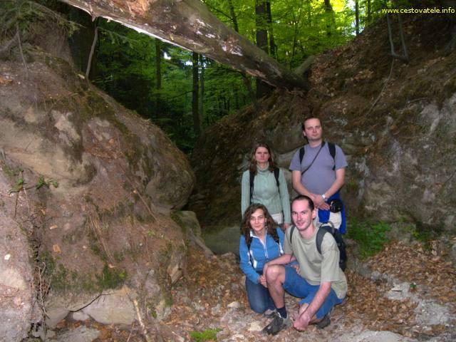 Pivnická rokle - Lenka, já (Radim), Albert a Iva v Pivnické rokli