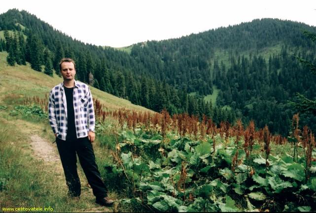 Já (Radim Dostál), napravo vrchol Šiprúň v pohoří Velká Fatra