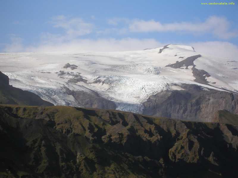 Ledovec mezi Thorsmorkem a Skoganem