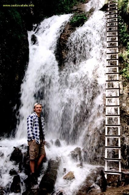 Já (Radim Dostál), v pozadí Nálepkův vodopád
