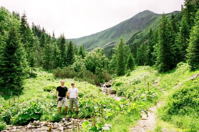 Já (Radim Dostál) a Jarda v Široké dolině v pohoří Nízké Tatry