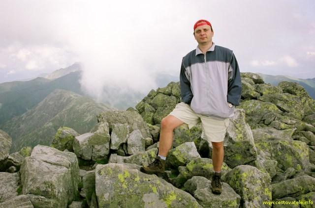 já (Radim Dostál) na vrcholu Chopok (2023,6 m.n.m.) v pohoří Nízké Tatry