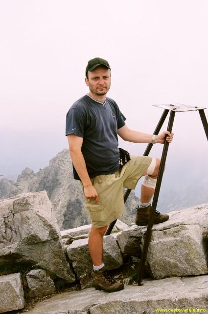 Já (Radim Dostál) na vrcholu Rysy - Vysoké Tatry