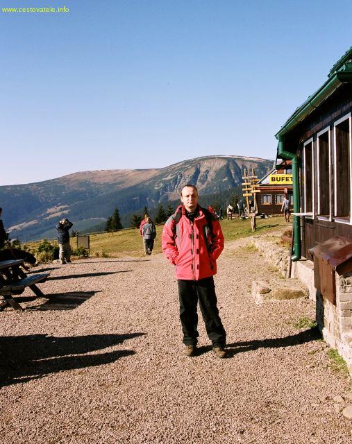 Já (Radim Dostál) u chaty Růžohorky - pohoří Krkonoše