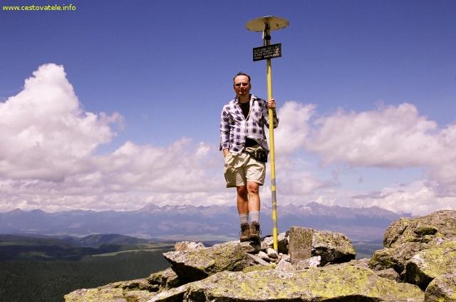 Já (Radim Dostál) na vrcholu Bartková v pohoří Nízké Tatry