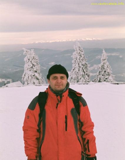 Já (Radim Dostál) kousek od vrcholu Lysá Hora - Moravskoslezské Beskydy