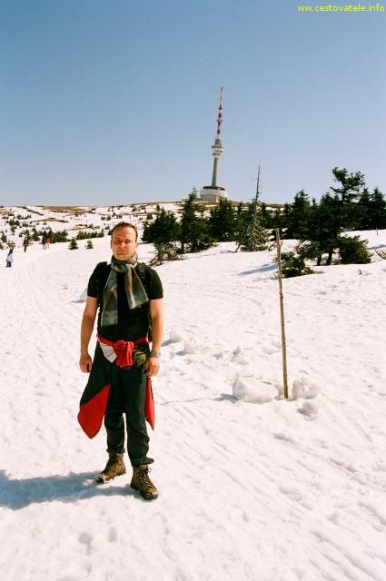 Já (Radim Dostál) cestou na Praděd v pohoří Jeseníky
