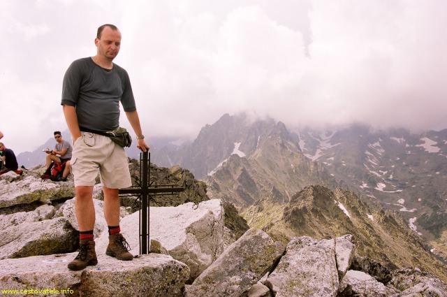 Já (Radim Dostál) na vrcholu - Slavkovský štít, Vysoké Tatry