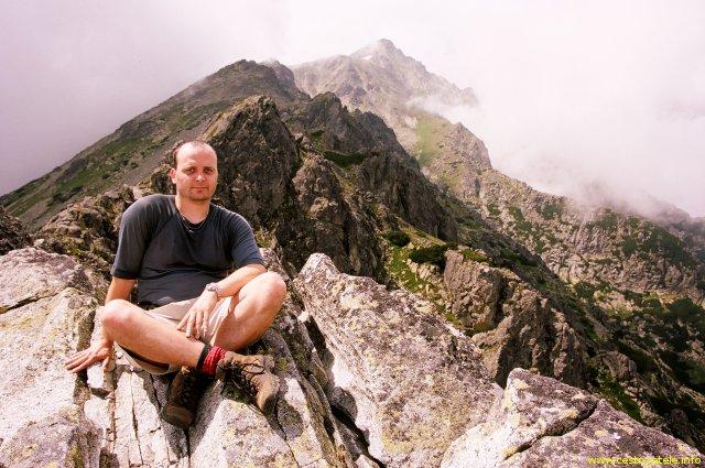 Já (Radim Dostál), v pozadí Slavkovský Štít - Vysoké Tatry
