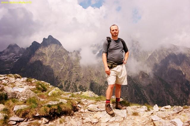 Výhled kousek od vrcholu - Slavkovský štít, Vysoké Tatry