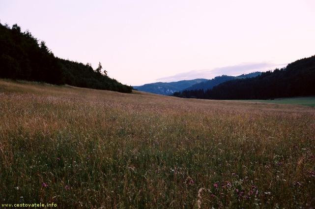 Večerní Veľká lúka - Muránská planina