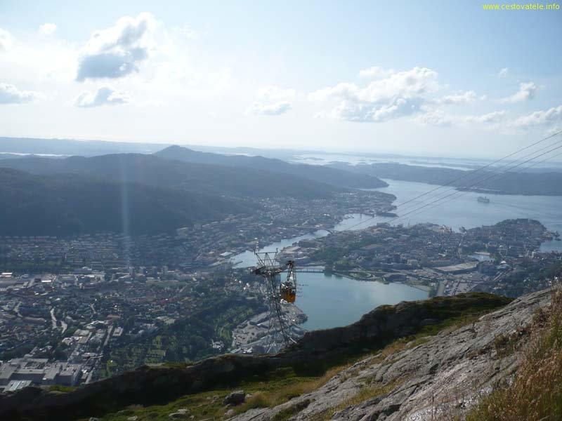 Výhled na Bergen od vysílače