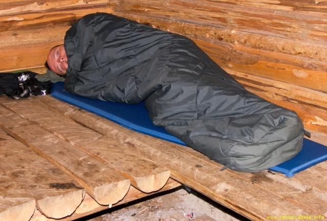 Já (Radim Dostál) v útulně na Nižné Kľakové - Murásnká planina