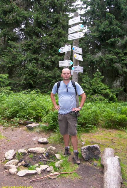 Já (Radim Dostál) na vrcholu Fabova hoľa - Muránská planina
