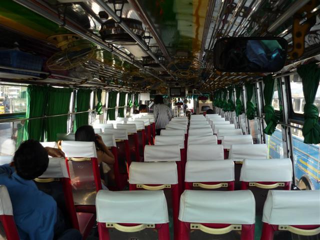 Interiér Thajského autobusu