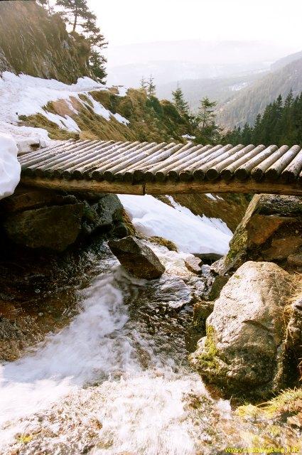 Potok kousek od Vodárny pod Sněžkou - Krkonoše