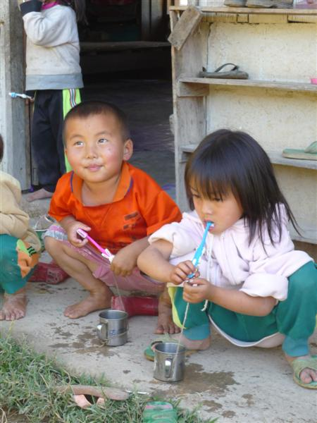 Vesnická škola v Thajsku