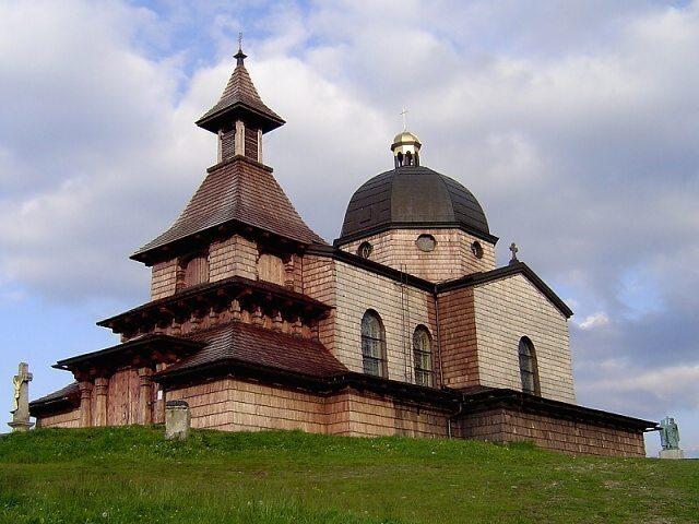 Kaple Cyrila a Metoděje - Na Radhošť jsme doběhli, když už slunko zapadalo.