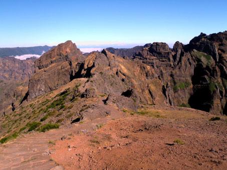 První metry směr Pico Ruivo