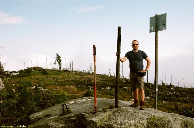 Já (Radim Dostál) na vrcholů Plechý - Šumava