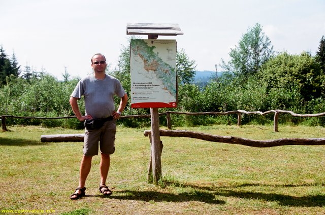 Já (Radim Dostál) na veřejném tábořišti v Strážný - U časté - Šumava