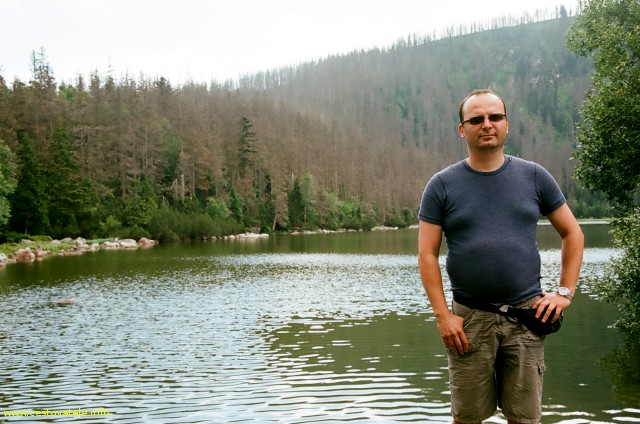 Já (Radim Dostál) u Plešného jezera - Šumava