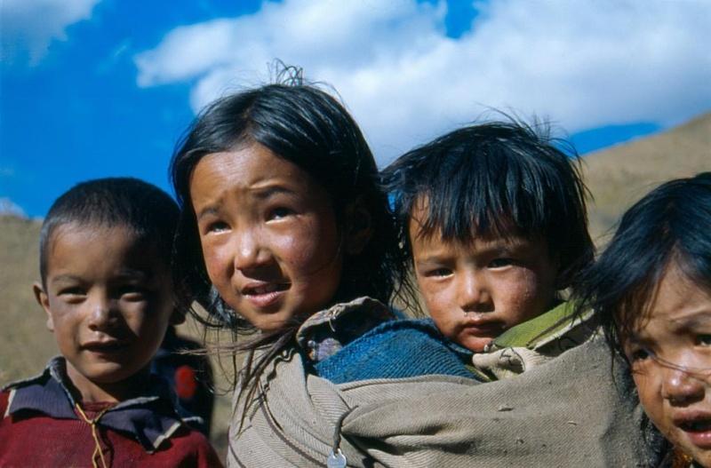 Ilustrační foto, tibetské děti