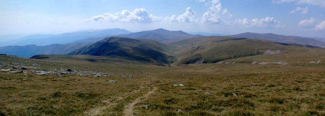 Sestup z pohoří Vârful Godeanu - Godeanu, Rumunsko