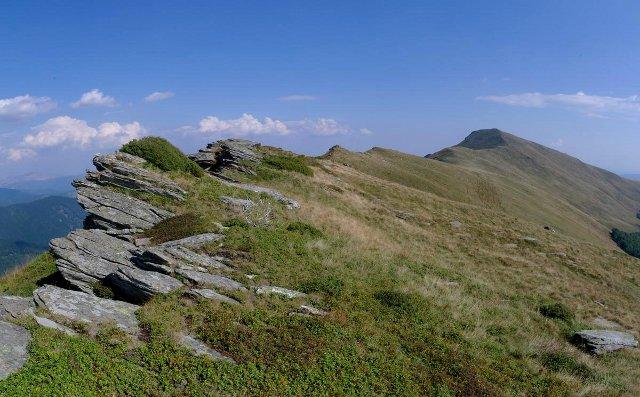 Směrem k Vârful Oslea Romanesca - Godeanu, Rumunsko