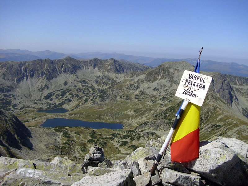 Vrchol Vârful Peleagy - Retezat, Rumunsko