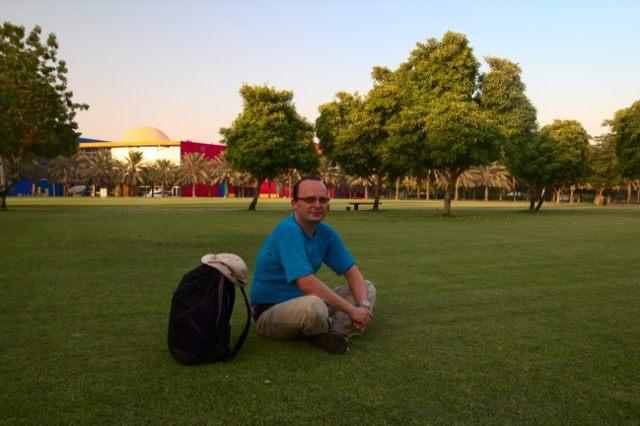Já (Radim Dostál) v Creek Park v emirátu Dubaj