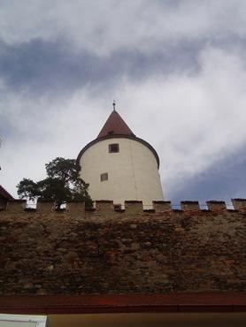 Pohled na hradby