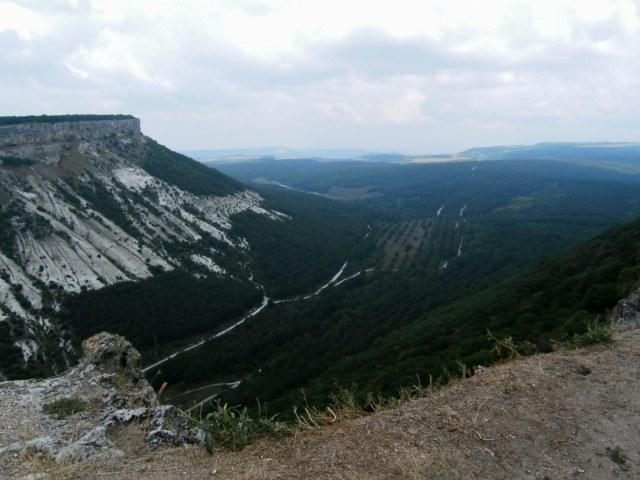 Výhled z Čufut-Kale, Krym