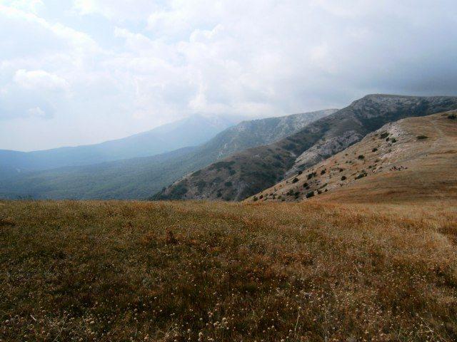 Pohled z náhorní plošiny Čatyr-Dag