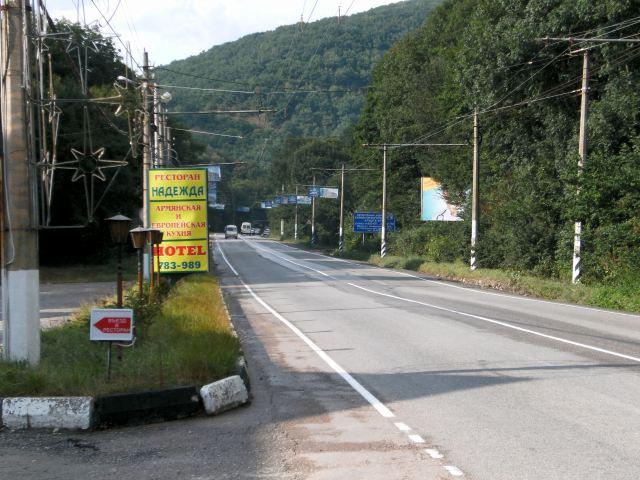 Hlavní silnice Simferopol-Jalta