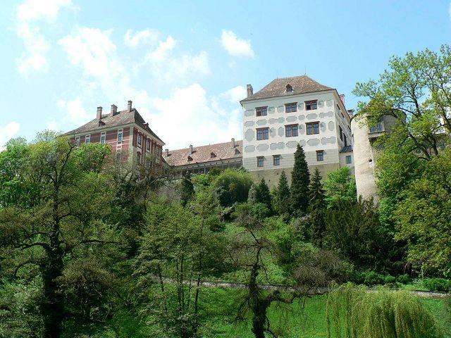 Pohled na zámek Opočno z parku