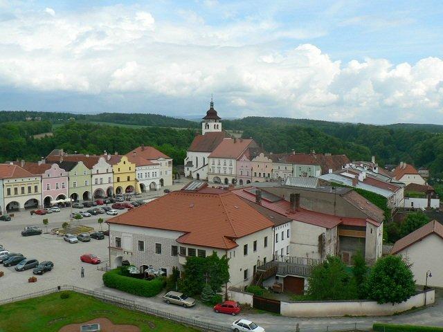 Nové Město nad Metují - pohled z věže zámku