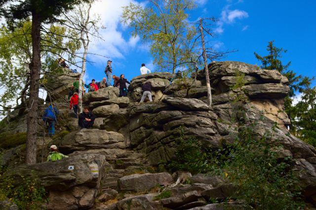 Vrchol Devět skal - Žďárské vrchy