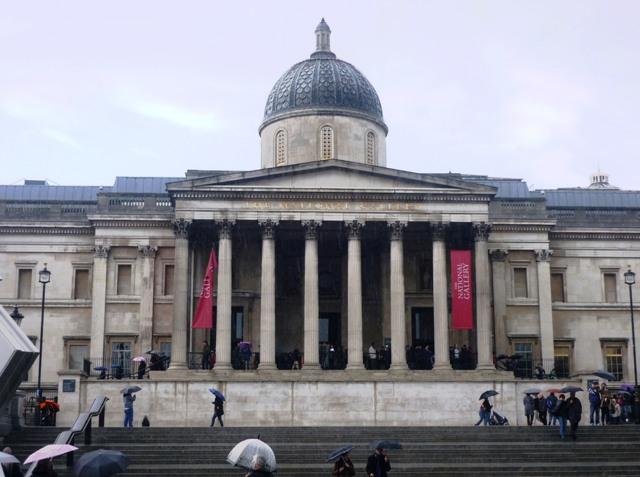 Národní galerie - Trafalgarské náměstí, Londýn