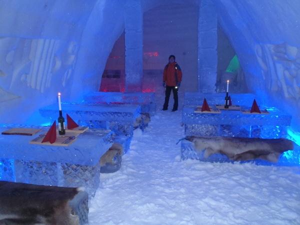 Ledový hotel - restaurace