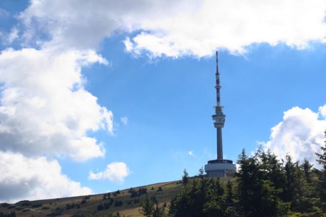 Vrchol hory Praděd focený cestou na Barborku - Jeseníky